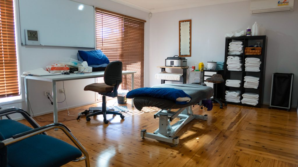 Tuggerah chiropractic massage room